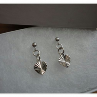 Cut Heart Earrings