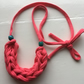 Hot pink t-shirt yarn necklace