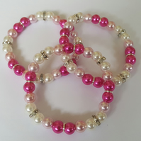Children's beaded elasticated bracelets
