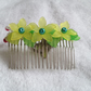 Yellow Flower Hair Comb