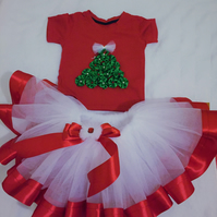 Red &White Tutu Dress