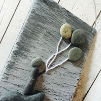 Slate based pebble art