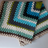 Vintage retro inspired crochet blanket throw  baby knee car camping holiday gift