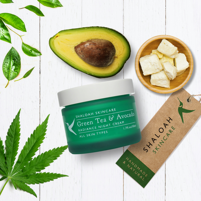 Green Tea & Avocado Nourishing Night Cream with Argan Oil and Coconut Oil