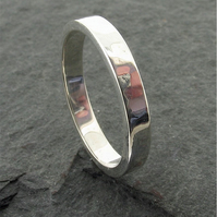 Water Ripples wedding ring, an original design in platinum 3mm wide-