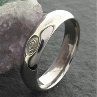 Scottish wedding ring, 6mm silver handmade court mans band-