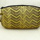 Black golden evening clutch evening purse cosmetic bag