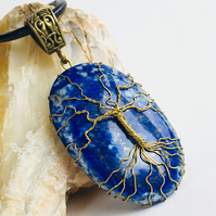 Lapis Tree of Life Pendant