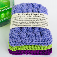 Hand Crocheted Washing Up Pads
