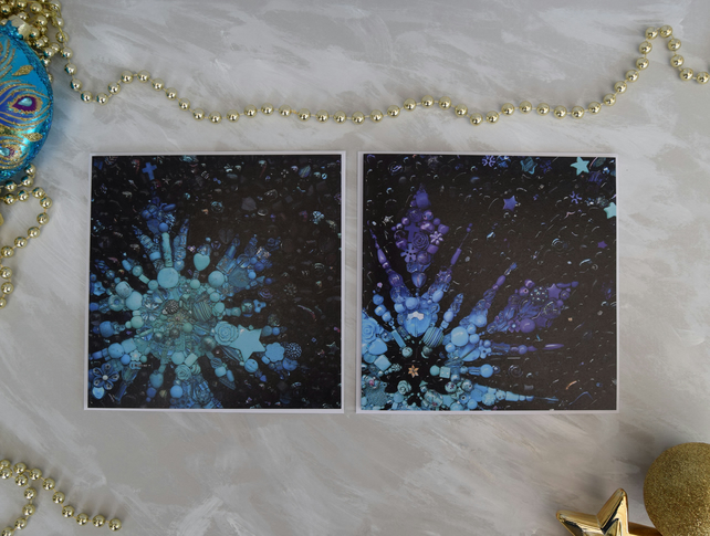 Snowflake Christmas Cards Pack of 6