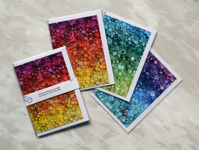 Colourful notecards, pack of 3 A6 blank Cards