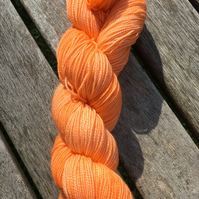Hand Dyed Sparkle Sock Yarn, 100g, Tonal, 'Orange Colored Sky'