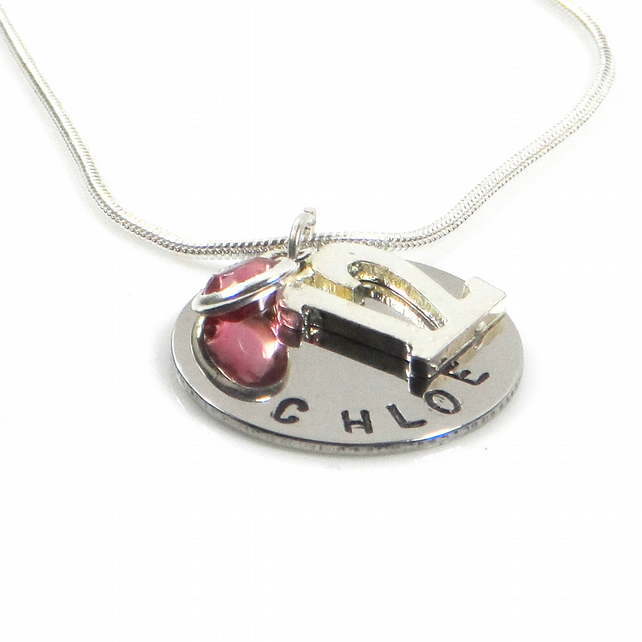 Personalised 12th Birthday Birthstone Necklace - Gift Boxed
