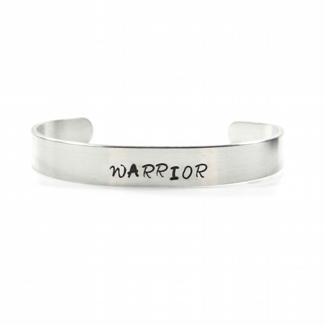 Hand Stamped Warrior Bracelet Bangle – Gift Boxed
