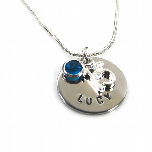 Personalised 15th Birthday Birthstone Necklace - Gift Boxed