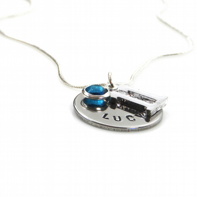 Personalised 11th Birthday Birthstone Necklace - Gift Boxed
