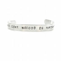 Hand Stamped Dance Like Nobody is Watching Bracelet  Bangle - Gift Boxed