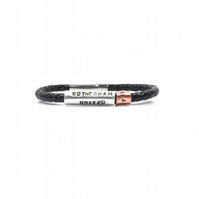 Unique Personalised Rotherham United No 1 Fan Leather Bracelet – Gift Boxed