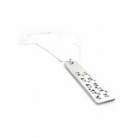 Personalised Hand Stamped Coordinates Necklace - Gift Boxed