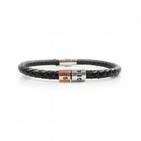15th Birthday Personalised Leather Bracelet – Gift Boxed