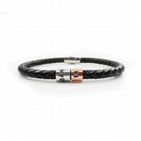 14th Birthday Personalised Leather Bracelet – Gift Boxed