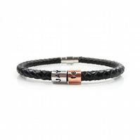 16th Birthday Personalised Leather Bracelet – Gift Boxed