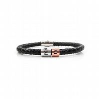 18th Birthday Personalised Leather Bracelet – Gift Boxed