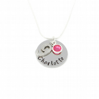 Personalised 9th Birthday Birthstone Necklace - Gift Boxed