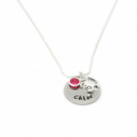Personalised 30th Birthday Birthstone Necklace - Gift Boxed
