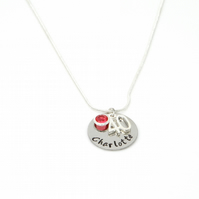 Personalised 40th Birthday Birthstone Necklace - Gift Boxed