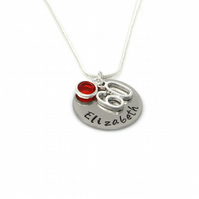 Personalised 60th Birthday Birthstone Necklace - Gift Boxed