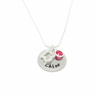 Personalised 13th Birthday Birthstone Necklace - Gift Boxed