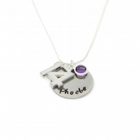 Personalised 14th Birthday Birthstone Necklace - Gift Boxed