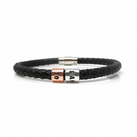10th Birthday Personalised Leather Bracelet – Gift Boxed