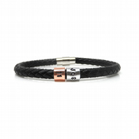 11th Birthday Personalised Leather Bracelet – Gift Boxed