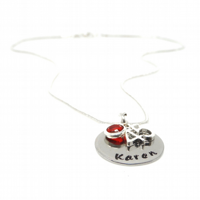 Personalised 45th Birthday Birthstone Necklace - Gift Boxed