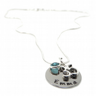 Personalised 35th Birthday Birthstone Necklace - Gift Boxed