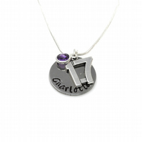Personalised 17th Birthday Birthstone Necklace - Gift Boxed