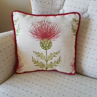 Scottish Thistle scatter cushion.