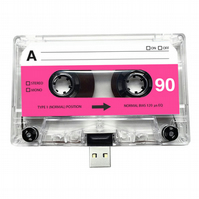 16GB USB Authentic Mixtape-Retro Birthday- Quirky Gift - Music Lover- Sister