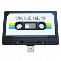 16GB USB Authentic Mixtape Retro - Quirky Gift - Music Lover- Funny - Weird