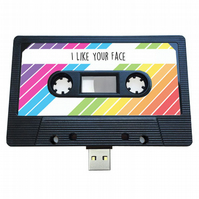 16GB USB Mixtape-Retro - Rainbow- Quirky Gift - Music Lover - Singers