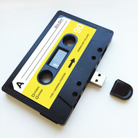 16GB USB Mixtape-Retro Anniversary- Quirky Gift - Music - Songs -Photos - Videos