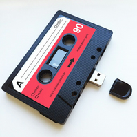 16GB USB Authentic Mixtape-Retro Personalized- Quirky Gift - Mothers Day