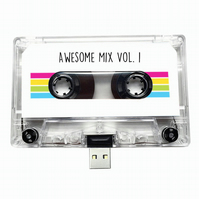 16GB USB Mixtape-Retro - Quirky Gift - Music Lover- Awesome - Love - Old School