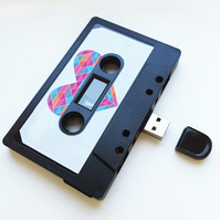 16GB USB-  Mixtape-Retro - Magic- Quirky Gift - Upload Music, Songs , Videos