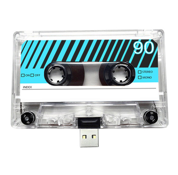 16gb usb mixtape retro quirky gift music lo folksy for Quirky retro gifts