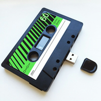 16GB USB Mixtape-Retro Birthday- Quirky Geeky Gift - Music Lover- Brother