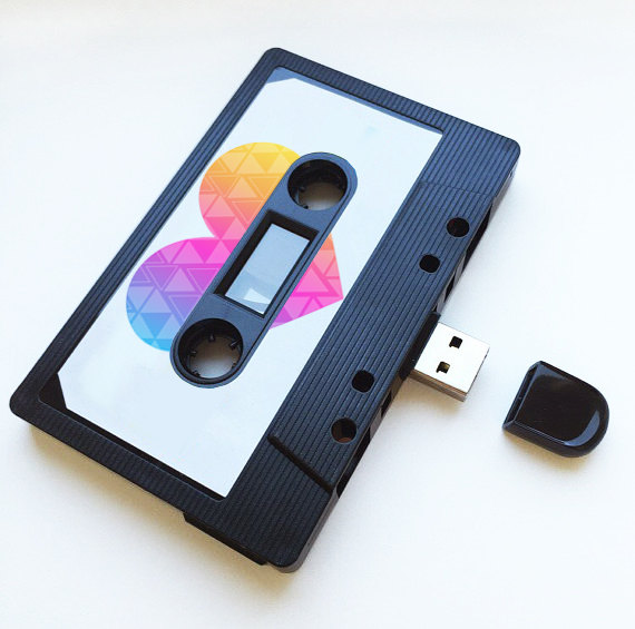 16gb usb mix tape retro valentines quirky folksy for Quirky retro gifts