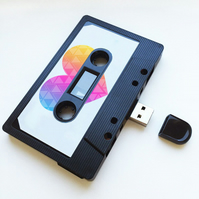 16GB USB Mix tape - Retro - Valentines - Quirky Gift - Music Lover - Flash Drive